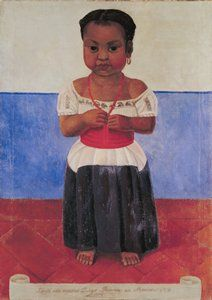 Diego Rivera, Indian Girl with Coral Necklace, 1926 Diego Rivera Art, Diego Rivera Frida Kahlo, Frida And Diego, San Francisco Museums, Art Curriculum, Mural Painting, Paintings, Mexican Art, Mexican Stuff