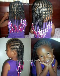 products for box braids | Cornrows, box braids, and beads. Products used: Bee Mine Luscious and ...