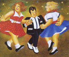 Beryl Cook ~ Rock n Roll Paul Horton, Beryl Cook, Local Painters, Jack Vettriano, Fat Women, Curvy Women, Shall We Dance, English Artists, Portraits