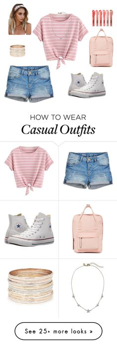 """casual summer day"" by rachel-hack-1 on Polyvore featuring Converse and Madden Girl"
