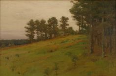 """Hillside Pines,"" Charles Warren Eaton, ca. 1905, oil on canvas, 20 × 30"", private collection."