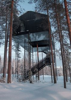 Snøhetta has completed The 7th Room, part of the treehotel...