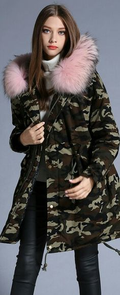 Cheap coat brand, Buy Quality coat down directly from China coat winter Suppliers: Women Thick Down Coats Winter Snow Warm White Duck Hoodies Camouflage Brand Casual Long Fur Trench Coat Size Winter Jackets Women, Coats For Women, Clothes For Women, Wool Overcoat, Blue Hoodie, Down Coat, Military Fashion, Casual