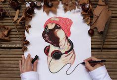 Kutyás minta pólóra, bögrére Etsy, Art, Art Background, Kunst, Performing Arts