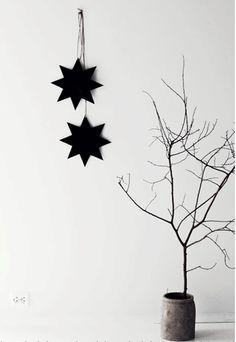 Christmas   Xmas   Jul   Noel. DIY: Decoration, Black Stars