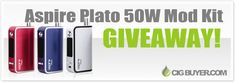 Enter to Win an Aspire Plato 50W Mod Kit from @cigbuyer: http://www.cigbuyer.com/aspire-plato-50w-mod-kit-giveaway/ #ecigs #vaping #aspireplato #vapelife #vapecontest #vapegiveaway
