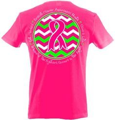 Amazon.com: Breast Cancer Awareness Ribbon Chevron Printed T-shirt: Clothing