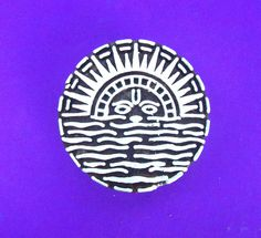 Sun FabricTextile Wood Stamp Indian Hand by PrintBlockStamps