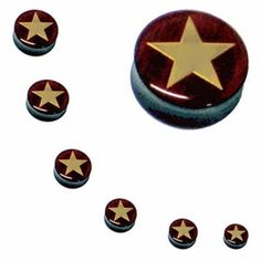 Ear Plugs 2G Acrylic Gold Star Logo Double Flare Acrylic Ear Gauges 2 Gauge (2 Pieces) BodyJ4You - Plugs. $0.99. You will receive 1 Pair of Plugs (2 pieces) of the size you select. Each set of 2 pieces will be 1 size. Wood & Gold Color Inlay. Check our other Listings for Deals on Taper Kit, Plugs Kits, Tunnels, Tapers and Plugs.. Highest Quality, UV Acrylic Plugs. Please Choose Your Size.