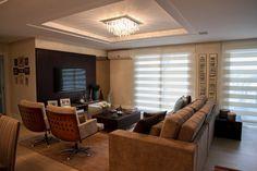 decoração sala de estar sofa marrom - Pesquisa Google