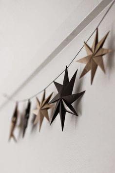 handmade paper star garland