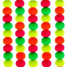 7mm Neon Mix Czech Glass Faceted Rondelle Beads - These beads are so vibrant they are black light reflective!