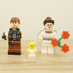 Star Wars wedding cake topper Han Solo and Leia by Mylegoideas