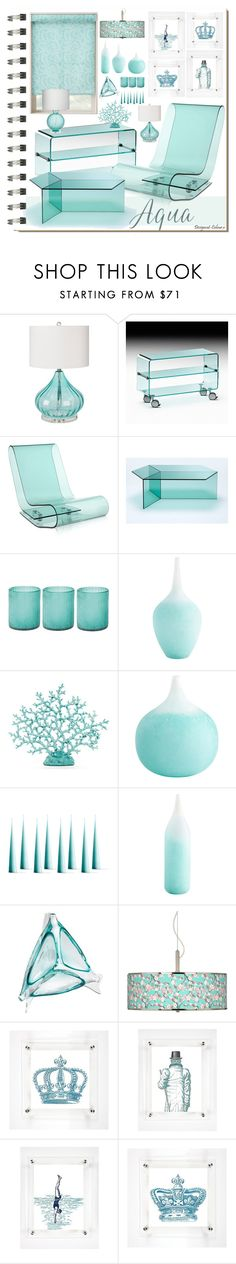 """Interior Notebook - Aqua Acrylic"" by designcat-colour ❤ liked on Polyvore featuring interior, interiors, interior design, home, home decor, interior decorating, Koo, Surya, FIAM and Kartell"