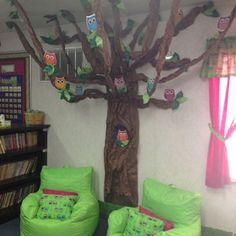 Looking for ideas for your owl-themed classroom? We've rounded up our favorite owl classroom theme ideas from around the web. Classroom Tree, Owl Theme Classroom, Classroom Setup, Classroom Design, Classroom Displays, Kindergarten Classroom, School Classroom, Classroom Organization, Classroom Management