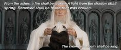 """On hope:   16 """"Lord Of The Rings"""" Quotes That Will Make You Swell With Hope"""