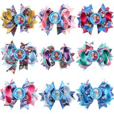 Barrettes & Clips Baby cartoon Big Bow clip barrettes Children hairpins festival gift Shower gift
