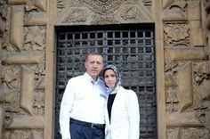 Recep Tayyip Erdogan with his daughter.