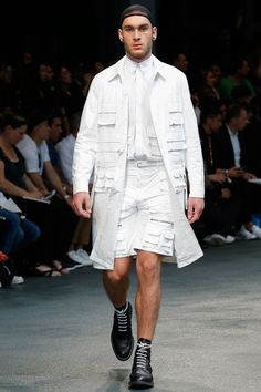 a case of too much pockets? Givenchy | Spring 2015 Menswear Collection | Style.com