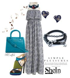 """""""New Shein contest!Win the dress!"""" by lekhamathias on Polyvore featuring Jimmy Choo, Vera Bradley and Anchor & Crew"""