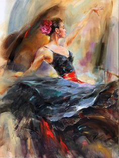 Le FLAMENCO vu par : Anna RAZUMOVSKAYA 02 / Flamenco solea