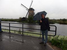 Fabio Civitelli na região dos moinhos do Kinderdijk - 2014