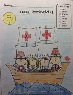 FREE Color by Number! Check out the Disguise Your Turkey and Thankful Turkey Craftivity. Includes emergent reader, parent letters, awards, and more!