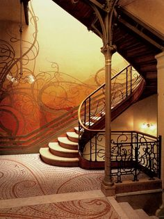 Art Nouveau is the predominant style of the early twentieth century in Europe, but also in the United States and Canada.  Read more in http://howtobuildahouseblog.com/art-nouveau-interior-design-your-home/