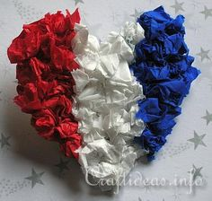 Preschool Crafts for Kids*: 4th of July Heart Pin Craft
