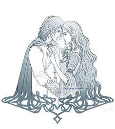 Arwen and Aragorn - Tattoo Comm by Heylenne on deviantART