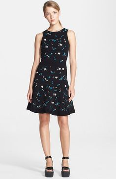 Opening Ceremony Petal Jacquard Knit Fit & Flare Dress available at #Nordstrom