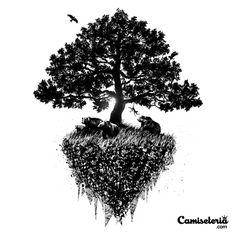 Camiseta 'Black tree' - Catalogo Camiseteria.com | Camisetas Camiseteria.com - Estampa, camiseta exclusiva. Faça a sua moda!