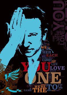 U2 song lyric poster typography art print 4 sizes xl xxl large Walk on