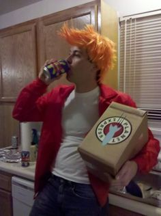 Philip J. Fry costume. A very good one might I add.
