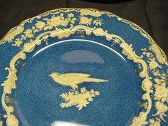 Spode Powder Blue / Bird Design Dinner Plates
