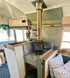 Rv Wood Stove, Mini Wood Stove, Tiny House Wood Stove, Small Wood Stoves, Camping Wood Stove, Bus Living, Tiny Living, Small Stove, Mobile Living