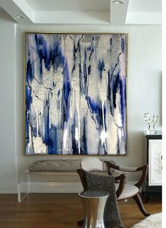 Sold Acrylic Abstract Art Abstract Painting Resin Painting Blue Painting Silver Painting Ikat Painting Silver Leaf Painting With Resin Acrylic Abstract Art Abstract Painting Resin Painting Blue Ikat Painting, Silver Leaf Painting, Interior Painting, Painting Tips, Painting Techniques, Blue Abstract Painting, Contemporary Abstract Art, Acrylic Art, Painting Inspiration
