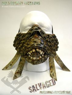 Post Apocalyptic costume - tyre 'War Mask' made for Airsoft LARP. Commission enquiries always welcome @ www.markcordory.com