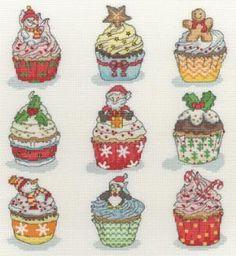 Cute Christmas cupcake cross stitch