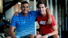 Nick Kyrgios and Thanasi Kokkinakis - two great young up and coming Aussie tennis players. Did really well at the 2014 Australian Open.