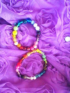 """colours of friendship "" Rainbow friendship bracelets."