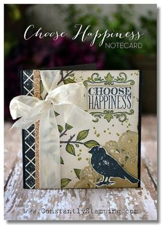 Choose Happiness stamp set. Classy Chic August 3-003