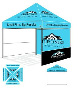 Eurmax PRE Pop up Canopy with Custom Printed Graphics - Instant Canopy Tent Portable Booth with  sc 1 st  Pinterest & Eurmax Standard Ez Pop up Canopy with Four (4) Screen Walls and ...