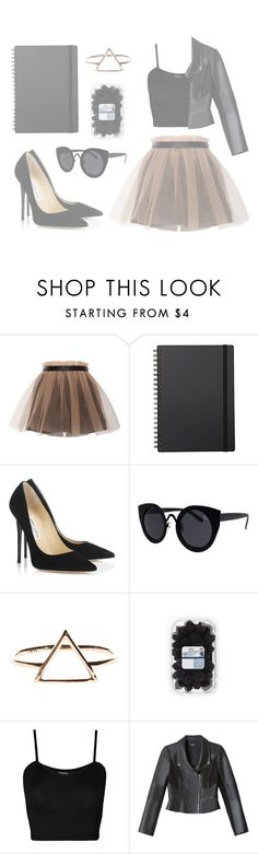 """""""This Night"""" by mode-222 ❤ liked on Polyvore featuring Yufash, Muji, Jimmy Choo, Topshop, WearAll and Bebe"""
