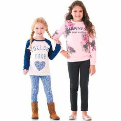 Girls 4-16 Selected Sets, Active Separates, Tops, Sweaters and Jeans by