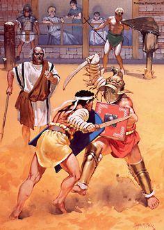 La Pintura y la Guerra. Roman History, Art History, Military Art, Military History, Ancient Rome, Ancient History, Roman Gladiators, Marshal Arts, Roman Warriors
