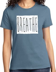 Ladies Yoga Breathe Tshirt Stonewashed Blue XL ** Read more reviews of the product by visiting the link on the image.