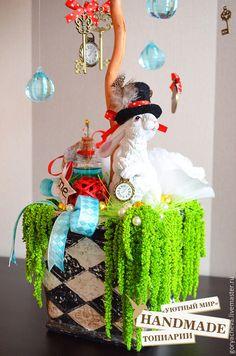 """Купить Топиарий """"Алиса в стране чудес"""" - подарок, сувенир, топиарий, Дерево счастья, европейское дерево"""