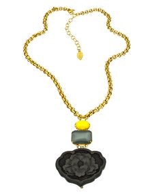 David Aubrey Black Carnation Necklace