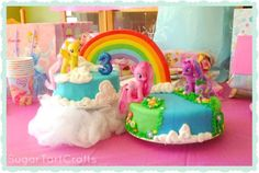 10 ideas for a My Little Pony party My Little Pony Party, Fiesta Little Pony, 2 Birthday, Birthday Cake Girls, 4th Birthday Parties, Birthday Ideas, Birthday Cakes, Rainbow Dash Party, Anniversaire My Little Pony